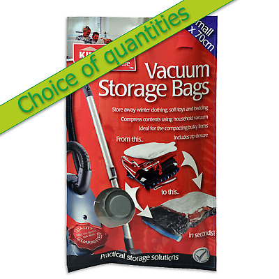 Vacuum storage bags 50 x 70cm Kingfisher Singles or multi buy discounted deals