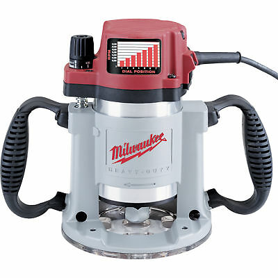 Milwaukee 5625-20 3-1/2 Max HP Fixed-Base Production Router with Electronic Vari
