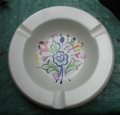 Vintage Hand Painted Poole Pottery Ashtray