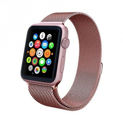 Aviato Apple Watch 38 mm Magnetic Milanaise Armband - Rosa