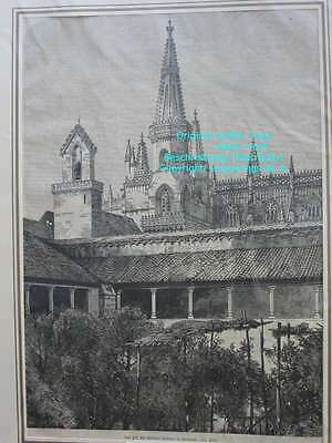 80505-Portugal-Portuguesa-Kloster Batalha-T Holzstich-Wood engraving