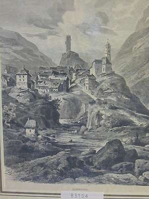 83104-Schweiz-Swiss-Switzerland-Hospental Hospenthal-TH-Wood engraving