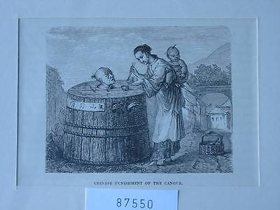 87550-Asien-Asia-China-Punishment of the Cangue-T Holzstich-Wood engraving