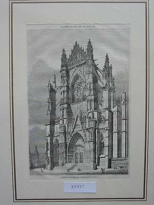 89321-Frankreich-France-Française-Beauvais Cathedrale-TH-Wood engraving