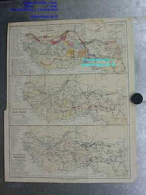 Afrika-Africa-WEST-SUDAN-Golf von Guinea-55x41cm-Lithographie-Lithography