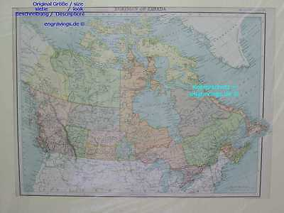 Kanada-Canada-Dominion-KARTE-MAP-1890-42x31 cm-Lithographie-Lithography