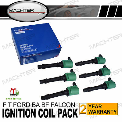 Ford Ignition Coils 6-Pack BA BF Falcon Fairlane Fairmont XR6 Territory SY LTD