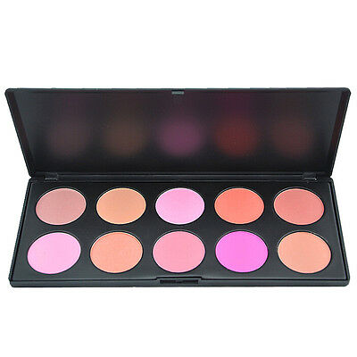 10 Colors Professional Beauty Makeup Cosmetic Blush Blusher Powder Palette NEW