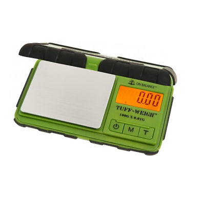 Tuff Weigh Digital Scale Tuff-100 Green Rugged Rubber 0.01G Table Top Scales