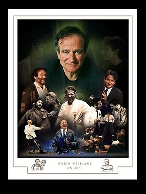 Robin Williams 1951 - 2014  Montage Print