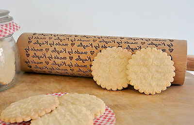 Personalised Wooden Engraved Rolling Pin, Mothers Day, Birthday Baking Gift