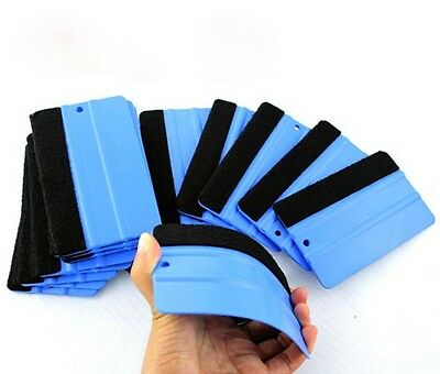 Durable Felt Endge Wrap Cleaning Scraper Squeegee Tool for Car Window