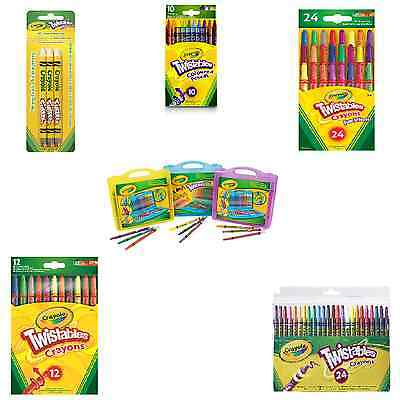 Crayola Twistables Colouring School Stationery Tools Coloured Twist Turn Colour