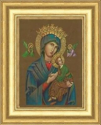 Small Our Lady Of Perpetual Help Picture Gold Moulded Frame Domed Others Listed