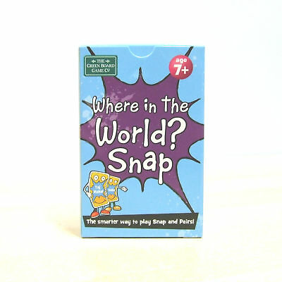 Around World Pack 2 Card Game Countries Flags Age 7+ Snap and Memory Pairs Game