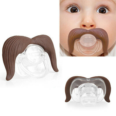 Funny Moustache Infant Nipple Pacifier Edible Silicone No Toxic Gift Baby Care