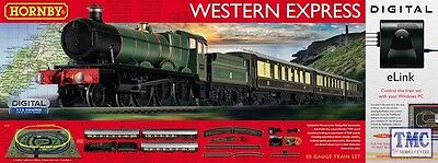 R1184 Hornby OO/HO Gauge Western Express Digital Train Set with eLink & TTS loco