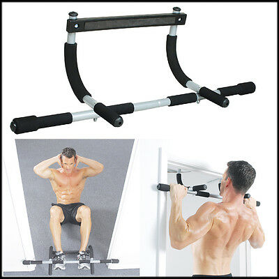 Professional Door Iron Gym Rod Pull Up Fitness Upper Body Workout Exercise Bar