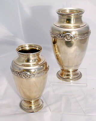 Early 20th c. Pair of French Silver-Gilt Vases Boin-Taburet, Paris