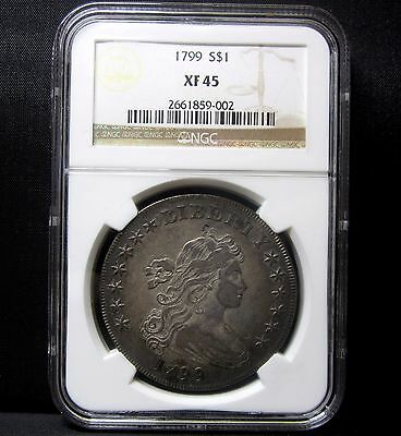 1799 $1 Draped Bust Silver Dollar ✪ Ngc Xf-45 ✪ Extra Fine Ef S$1 ◢Trusted◣