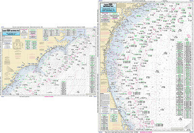 Fishing Map Miami to Marathon Key, FL KEY121-BC Fl. Atlantic