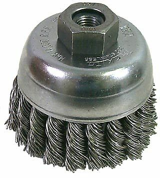 "Makita 743204-A 2-3/4"" Knot Style Cup Brush - Stainless Steel Wire"