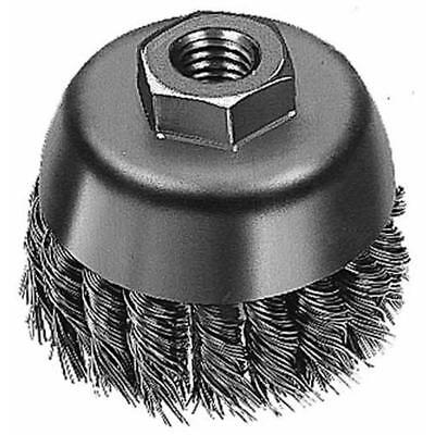 """Milwaukee 48-52-1650 6"""" Carbon Steel Knotted Cup Brush with 0.023 Gauge Wire and"""