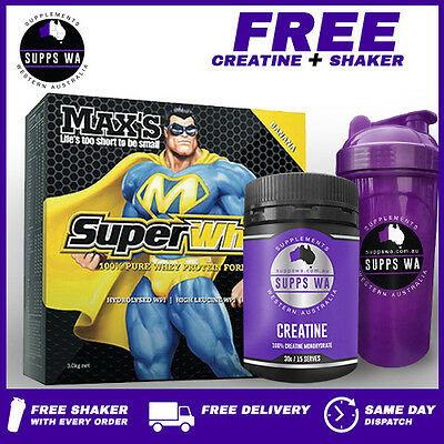 Max's SuperWhey 3kg Blended WPI WPC Super Whey Protein