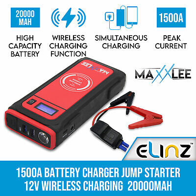 600A Car Vehicle Portable Emergency Jump Starter & Battery Charger 12V 24000mAh