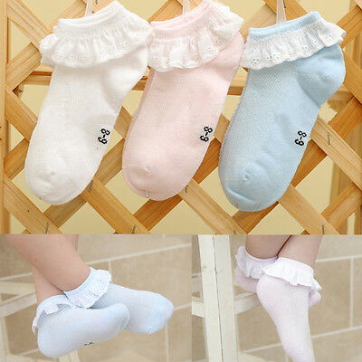 Girls Socks Children Toddler Pierced Baby Soft Cotton Kids Breathable Lace