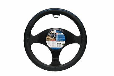 Car Steering Wheel Cover Glove Black Blue Colour Line 37-39cm Universal Easy Fit