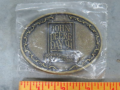 Vintage John Deere Day BELT BUCKLE New Old Stock NOS 1994