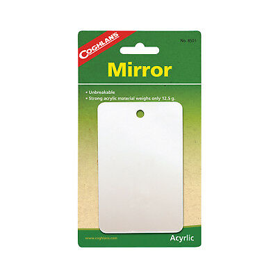 Coghlans Featherweight Mirror - Strong Unbreakable Acrylic Material (Cog 8501)