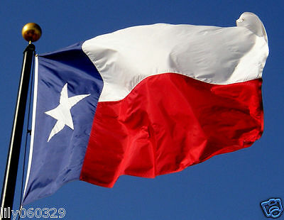 Texas State Flag TX Lone Star 3 x 5 Ft Indoor Outdoor Red White Blue CJ423