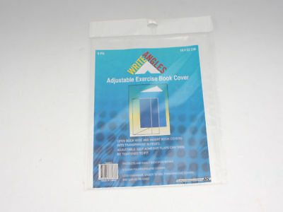 72 packs of 5 exercise text book covers clear adjust 23x18cm bulk wholesale lot