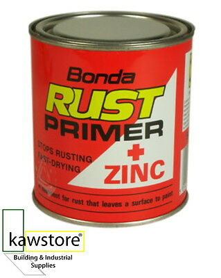 BONDA RUST PRIMER + ZINC, Fast Drying Anti Rust, 1 Litre
