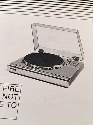 JVC L-A55 Turntable Original Owners Manual LA55 Manual, price on back cover