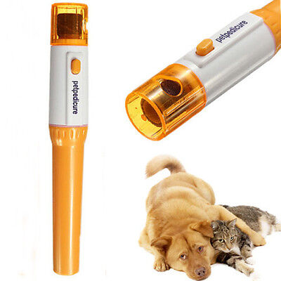 New Durable Pet Dog Cat Electric Nail Grooming Grinder Trimmer Clipper File