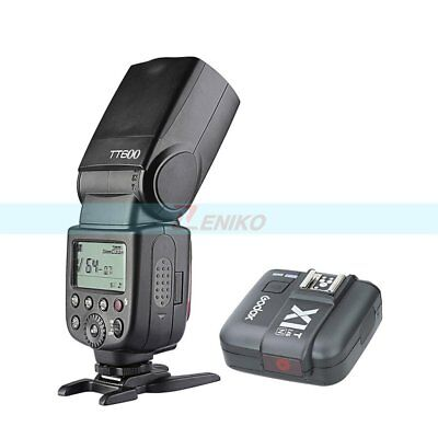 Godox GN60 2.4G Wireless Camera Flash Speedlite + X1T-N Transmitter for Nikon