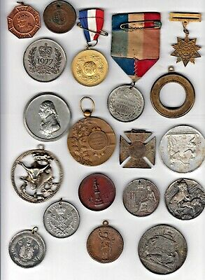 A Large Selection of Medals/Medallions - Mixed Bag