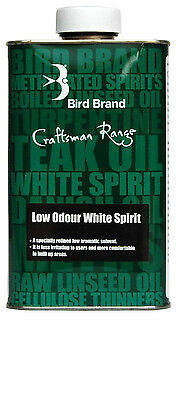 Bird Brand Low Odour White Spirit - 750ml or 2 Litre