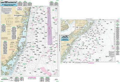 Fishing Map Off Coastal New Jersey ONJ19-BC Central Atlantic