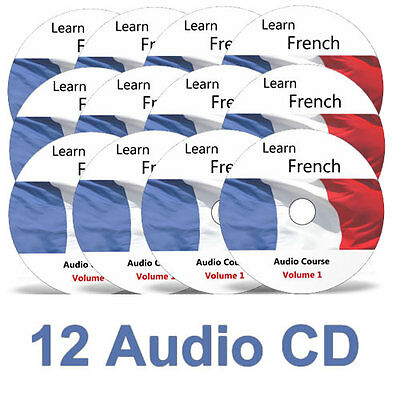 Learn to speak FRENCH - Complete Language Training Course - 12 AUDIO CDs no DVD