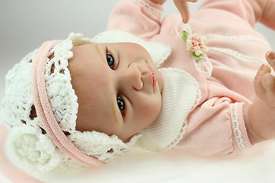 "Hot 22"" Silicone Super Simulation Reborn Baby Doll Lifelike Girl Gifts for Child"