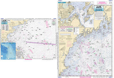 Fishing Map Off Shore Nautical Map MAINE GMMI7-BC N. Atlantic