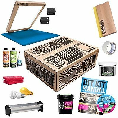 DIY Printing Shop Silk Screen Make Tshirt Print Kit Classic Table Top Design Set
