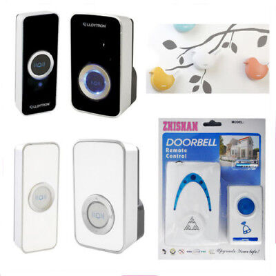 Plug-in Door Chime Portable Wireless 32 Melody Musical Push Bell Elegant Chimes