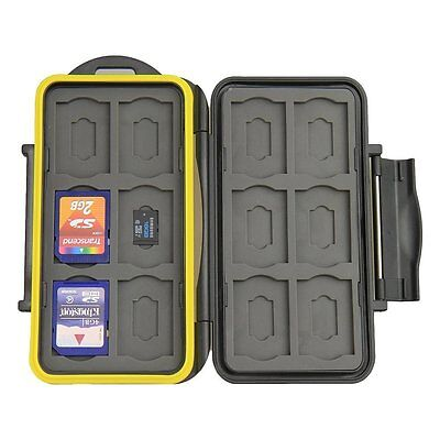 JJC MC-SDMSD24 Water-Resistant Holder Storage Memory Card Case &12 Micro SD Card