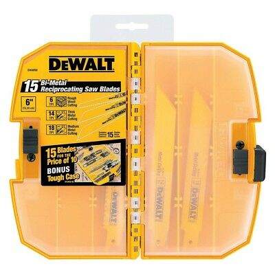 DEWALT DW4890 15-Piece Reciprocating Saw Blade Set