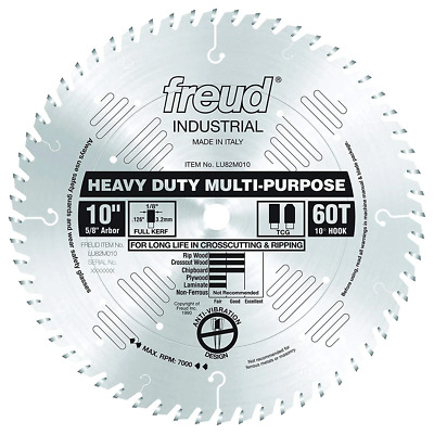 "Freud Tools LU82M010 10"" Heavy Duty Multi-Purpose Saw Blade"